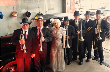 Jazz band and Swing Band for hire in Naples, Florida for your Casino Theme event.