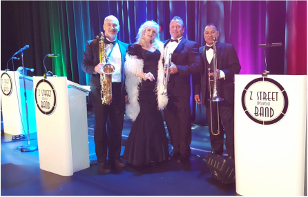 Jazz band and Swing Band for hire in Miami, Florida for your Casino Theme event.